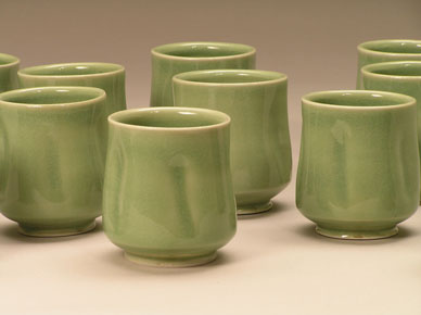 Peter-Meyer-celadon-cups